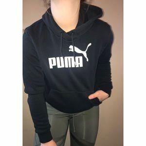 Puma Black Soft Pullover Sweatshirt Hoodie A103